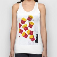 fries Tank Tops featuring Oh fries by Drica Lobo Art