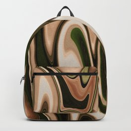 Light Brown beige White Almond Swirl Abstract Backpack