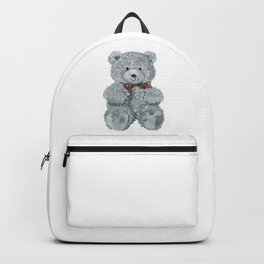 Grey bear toy Backpack