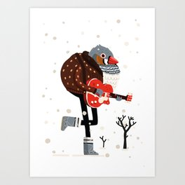 Moon Boots, Gretsch & Bomber Jacket Art Print