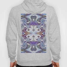Abstract Purple, Blue and White Design 671 Hoody