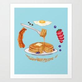 Pancake Mandala Kunstdrucke