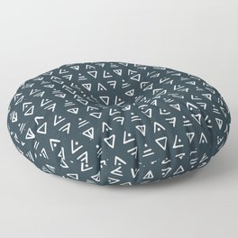 I Saw the Signs . Navy Floor Pillow