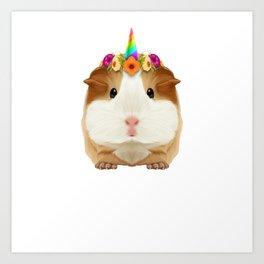 Guinea Pig Guinicorn Unicorn Rodent Wheek Gift Art Print
