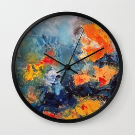 Orange Fish Wall Clock