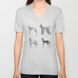 4 Hounds Unisex V-Neck