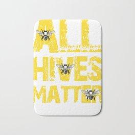 All Hives Matter Beekeeper Gift Bath Mat