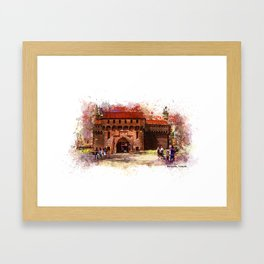 Barbican, Cracow Framed Art Print