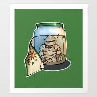 I'm in a pickle...jar Art Print