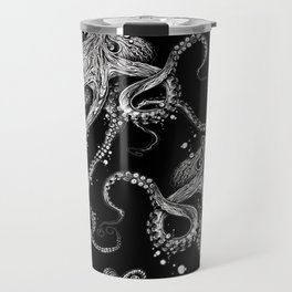 Octopus (black) Travel Mug