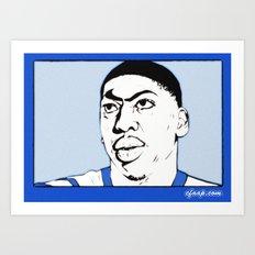 Anthony Davis Nike Swoosh Unibrow Art Print