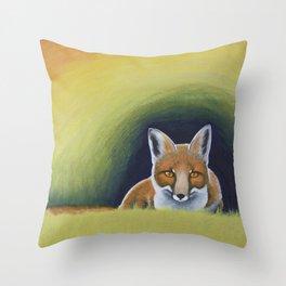 Autumn Fox (2015) Throw Pillow