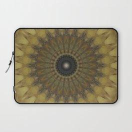 Mandala in golden tones Laptop Sleeve