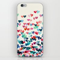 watercolour iPhone & iPod Skins featuring Heart Connections - watercolor painting by micklyn