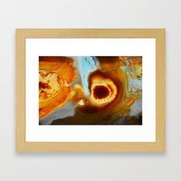 Blue Rust Abstract Fire Print  Framed Art Print