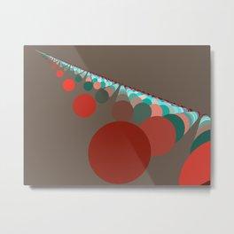 Floating Discs on Brown (A) Metal Print