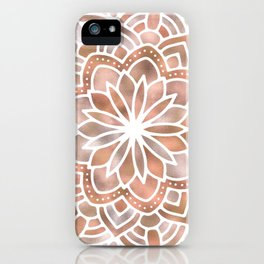 Mandala Rose Gold Flower iPhone Case