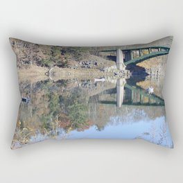 Shifting Totems & Fishing on the Delaware River Rectangular Pillow