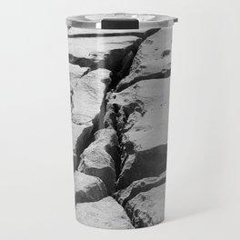 Limestone pavement in the Burren, Ireland Travel Mug