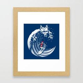 Little Red Surfing Hood Framed Art Print