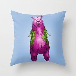 Armless Bear in Nature Throw Pillow