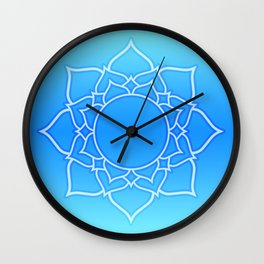 Lotus Mandala (Blue) Wall Clock