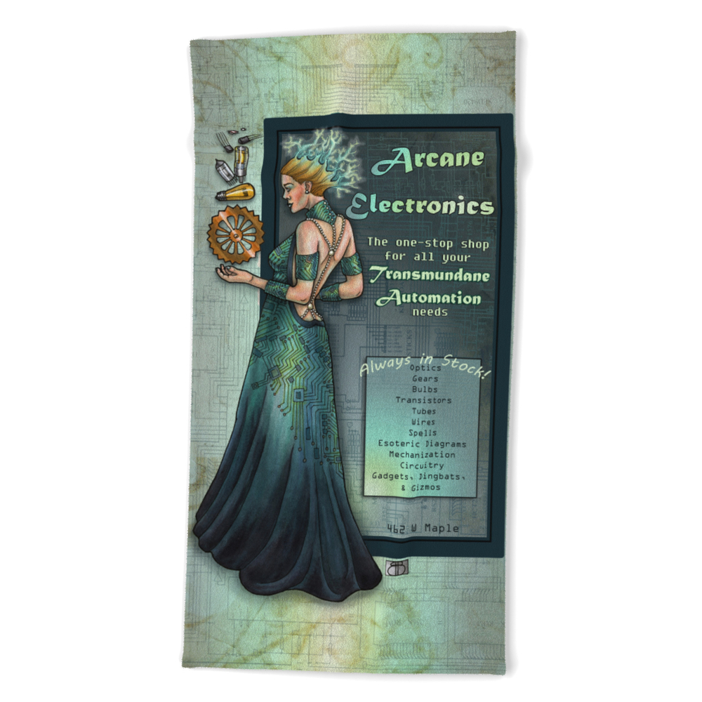 Arcane Electronics by Bobbie Berendson W Beach Towel by metallicvisions