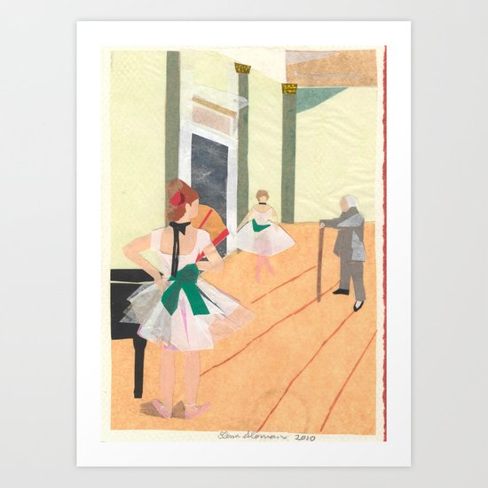 The Ballet Lesson Art Print