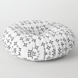 Flag of new mexico 3: Black and white version Floor Pillow