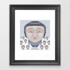 Portrait : Cold Feet Framed Art Print