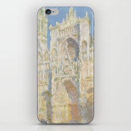 Claude Monet - Rouen Cathedral, West Façade, Sunlight iPhone Skin