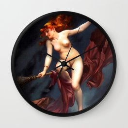 "Luis Ricardo Falero ""Muse of the Night (also known as The Witches Sabbath)"" Wall Clock"