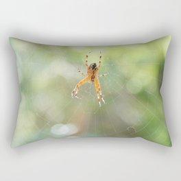 Spider in spiderweb Rectangular Pillow