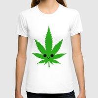 weed T-shirts featuring kawaii weed by kidkb09