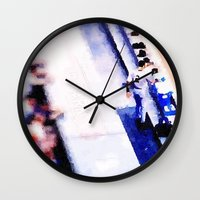 dj Wall Clocks featuring dj by Ricochet  Elm  Studio