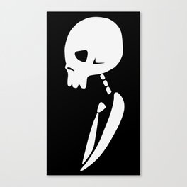 Inverted PARTY SKULL Canvas Print