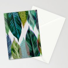 Green Leaves Stationery Cards