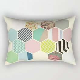 Florals and Stripes Rectangular Pillow