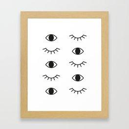 Eye Pattern 001 Framed Art Print