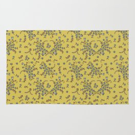 Ditsy Flowers - Yellow Rug