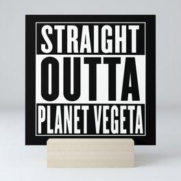 Straight Outta Planet Vegeta Mini Art Print