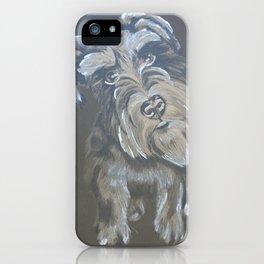 Inquisitive Schnauzer iPhone Case