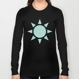 Pastel Turquoise Glitter Long Sleeve T-shirt