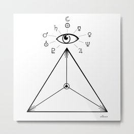 Freemasonry Metal Print
