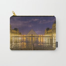 The Louvre at night Carry-All Pouch