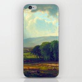 George Inness Harvest Scene in the Delaware Valley iPhone Skin