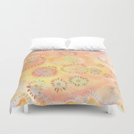 Soft color pops Duvet Cover