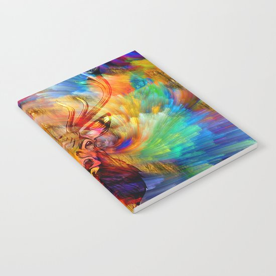 Deer' s colorful forest Notebook