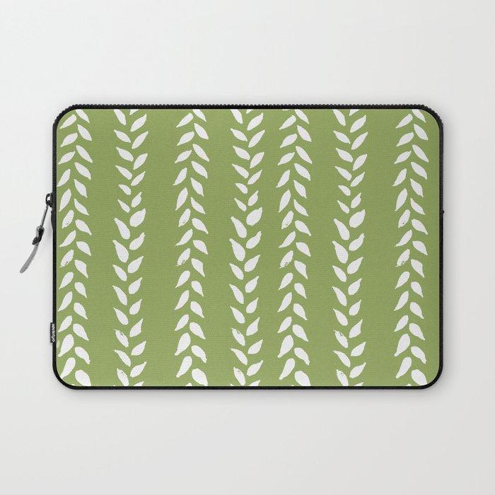 Sap Vines - nature spring leaves green pattern Laptop Sleeve
