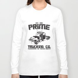 Transformers Inspired Optimus Prime Truck T-Shirts Long Sleeve T-shirt